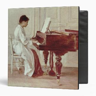 """En el piano, 1887 (aceite en lona) carpeta 1 1/2"""""""