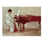 En el piano, 1887 (aceite en lona) postal