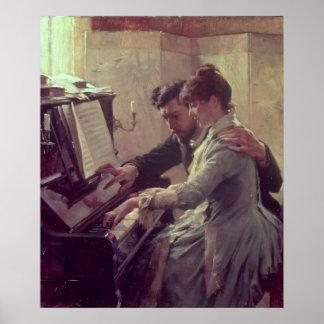 En el piano impresiones