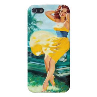 En el Pin amarillo del vestido para arriba iPhone 5 Coberturas