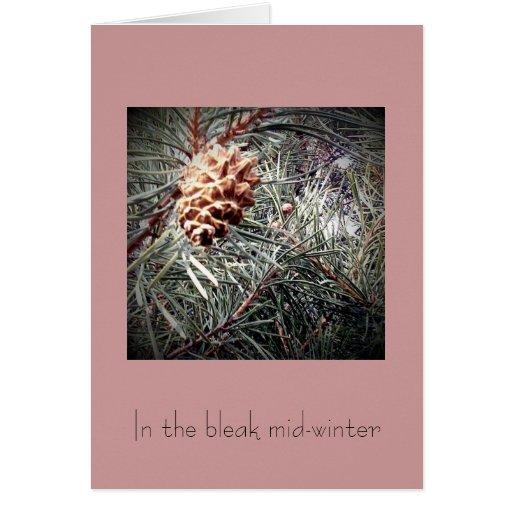 En el pleno invierno triste tarjeta