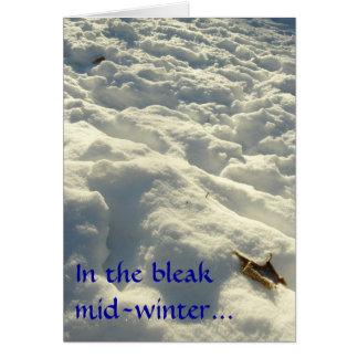En el pleno invierno triste… tarjeta de felicitación