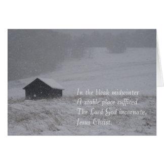 En el pleno invierno triste tarjeta de felicitación