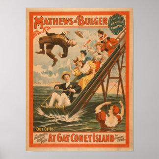 """""""En el poster #2 de la comedia musical de Coney Is Póster"""