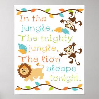 En el poster de la selva