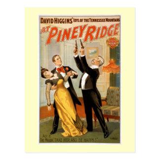En el poster penoso del teatro del vintage de postales