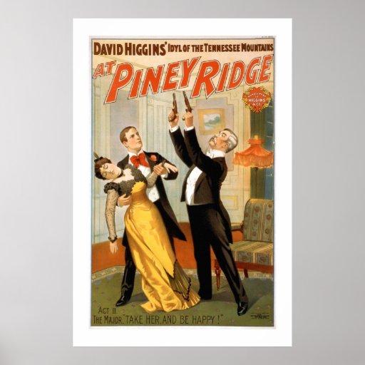 En el poster penoso del teatro del vintage de Ridg