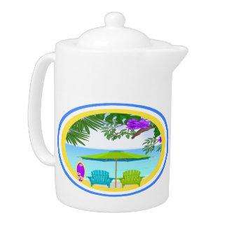 En el pote del té de la playa