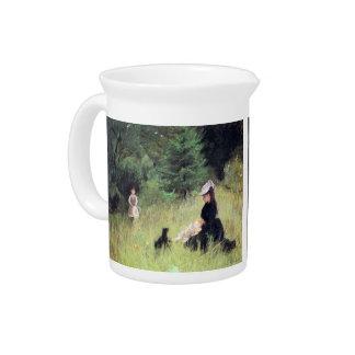 En el prado de Berthe Morisot Jarra Para Bebida