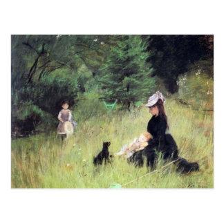 En el prado de Berthe Morisot Postales