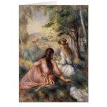 En el prado de Pierre-Auguste Renoir Tarjeta De Felicitación