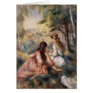 En el prado de Pierre-Auguste Renoir Tarjeton