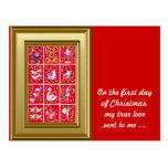 En el primer día de navidad mi amor verdadero envi tarjeta postal