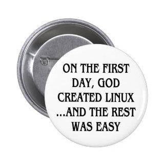 En el primer día, dios creó Linux… y el resto Pin