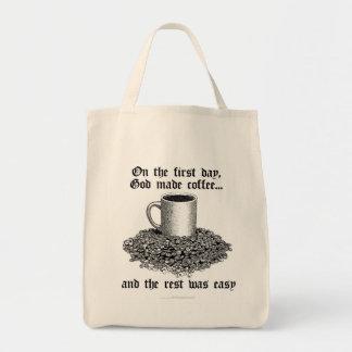 En el primer día dios hizo el café… bolsas lienzo