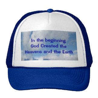 En el principio dios creó cielo y la tierra gorras de camionero