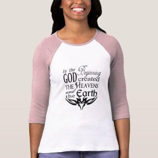 En el principio dios creó cielo y la tierra camiseta