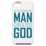 En el principio el hombre creó a dios iPhone 5 cárcasa