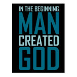 En el principio el hombre creó a dios postales