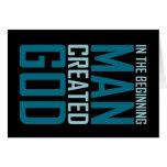 En el principio el hombre creó a dios tarjeton