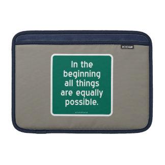 En el principio todas las cosas son igualmente pos funda macbook air