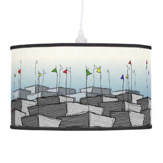 en el puerto lámpara de techo