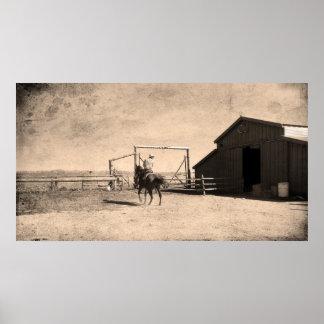 En el rancho póster