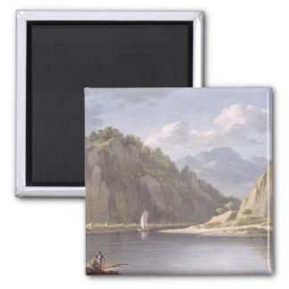 En el río Elba, cerca de Lowositz en Sajonia, plac Imán Cuadrado