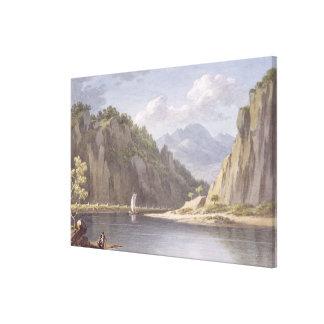 En el río Elba, cerca de Lowositz en Sajonia, plac Impresion De Lienzo