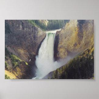 En el río Yellowstone Poster