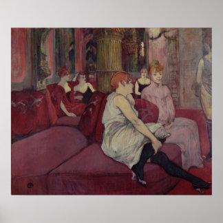 En el salón en el DES Moulins de la ruda 1894 Poster