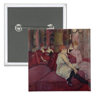En el salón en el DES Moulins de la ruda, 1894 Pin Cuadrado