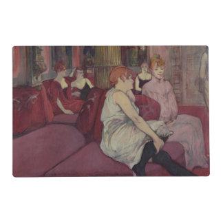 En el salón en el DES Moulins de la ruda, 1894 Tapete Individual