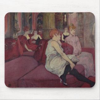En el salón en el DES Moulins de la ruda, 1894 Alfombrillas De Ratones
