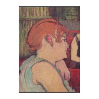 En el salón en el DES Moulins de la ruda Impresión En Lona Estirada