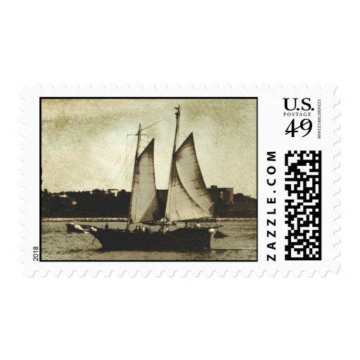 En el sello del puerto