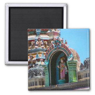 En el tejado del templo imán cuadrado