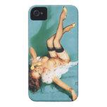 En el teléfono - Pin del vintage encima del chica Case-Mate iPhone 4 Cobertura