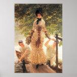 En el Thames de James Tissot Posters