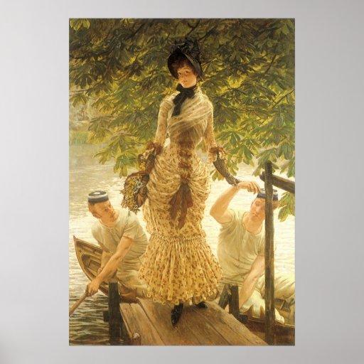 En el Thames de James Tissot, realismo del vintage Póster
