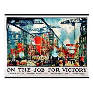 En el trabajo para la victoria 1 postal