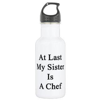 En el último mi hermana es cocinero