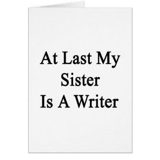 En el último mi hermana es escritor