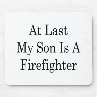 En el último mi hijo es bombero mousepads