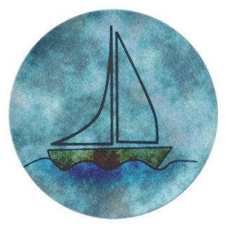 En el velero tempestuoso de los mares platos para fiestas