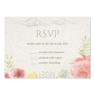En el verano del prado que casa la tarjeta de RSVP Invitación 12,7 X 17,8 Cm