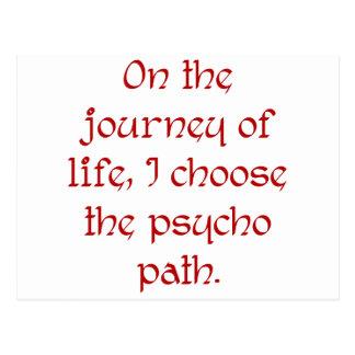 En el viaje de la vida elijo la trayectoria psica tarjetas postales