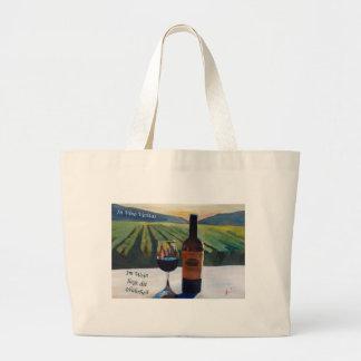 En el vino Veritas - el liegt de Im Wein muere Bolsa Tela Grande