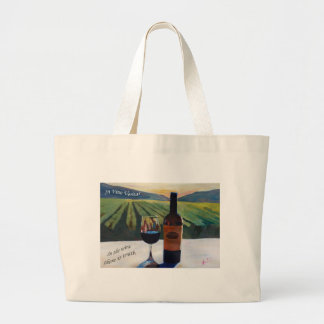 En el vino Veritas - la verdad está en el vino Bolsa Tela Grande