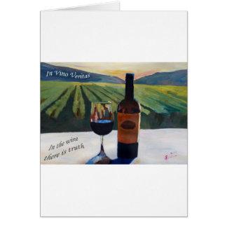 En el vino Veritas - la verdad está en el vino Tarjeta De Felicitación